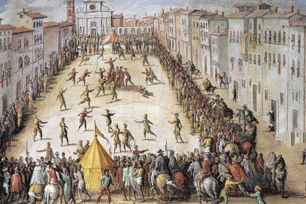 calcio storico fiorentino, Florencja, Piazza Santa Maria Novella, Jan Van der Straet